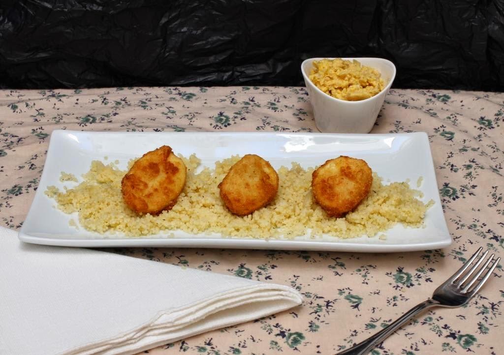 Huevos empanados con couscous - El dulce mundo de Nerea
