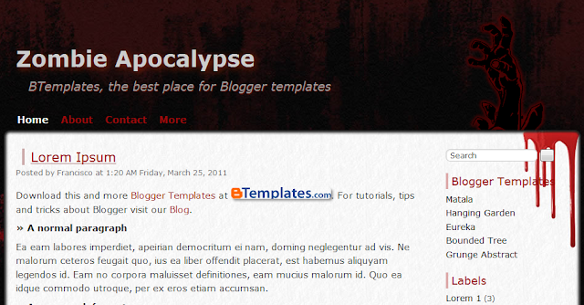 Horror Blogger Template