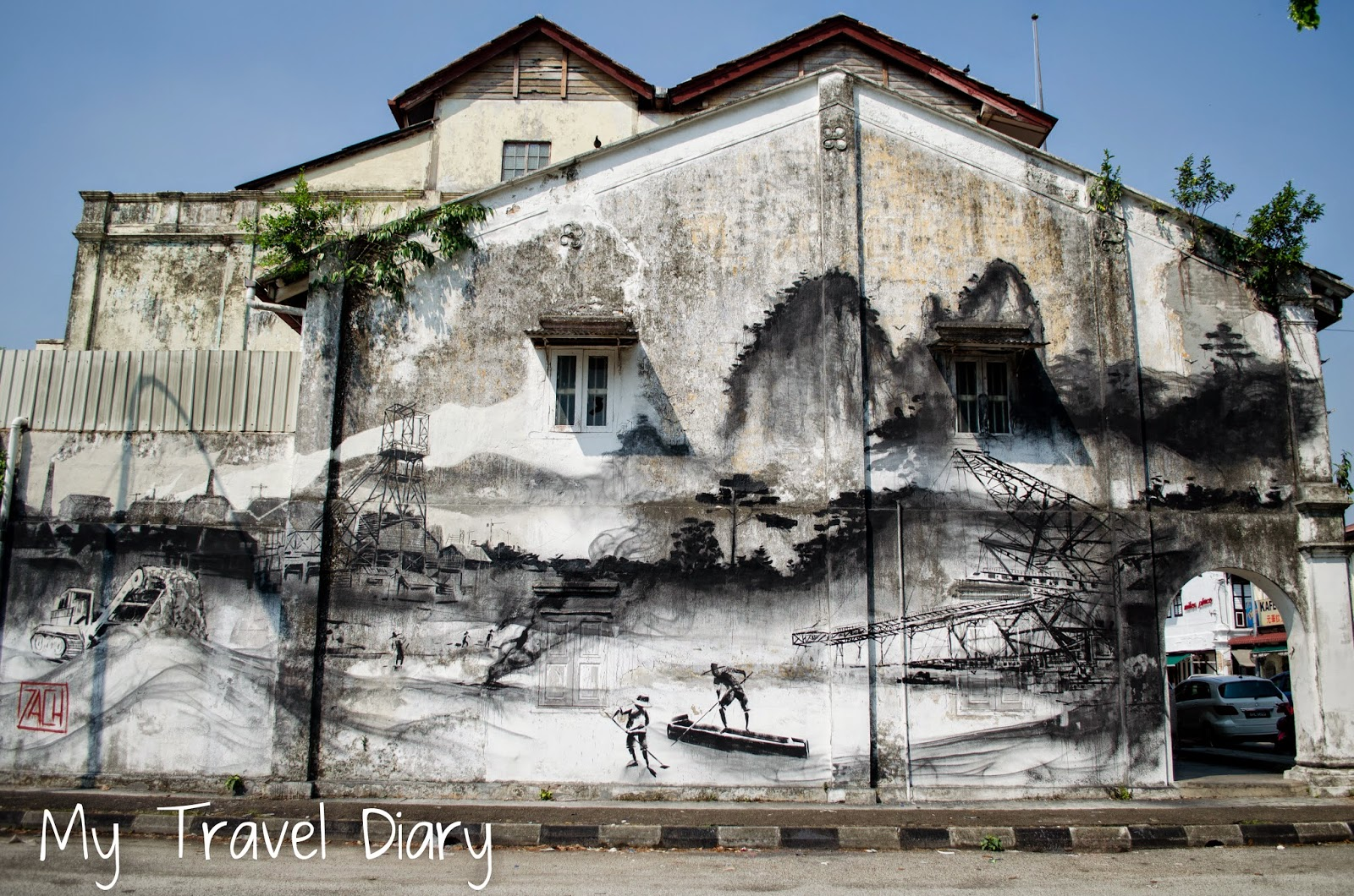 My travel diary ipoh heritage town wall painting for 7 mural ipoh