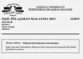 pepriksaan SPM 2013 ini berikut contoh soalan Kertas 3 SPM 2013