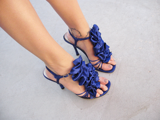 DIY Ruffle shoes