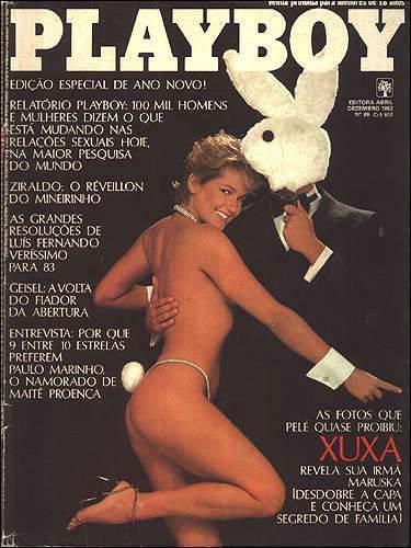 Confiras as fotos que Pelé quase proibiu, a rainha dos baixinhos e dos altinhos tambem, XUXA! Capa da Playboy de dezembro de 1982!
