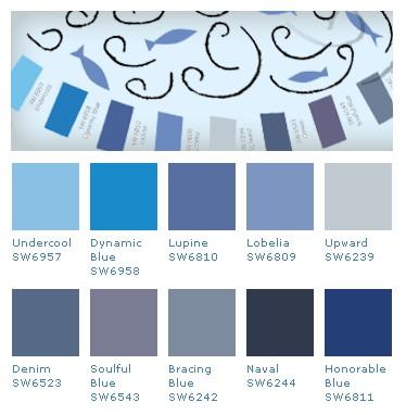 Colores para interiores sherwin williams - Carta de colores azules ...