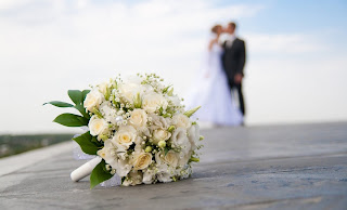 Wedding Bride Blur Bridal Bouquet Close Up HD Wallpaper
