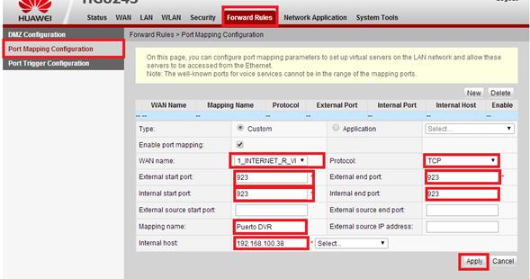 El rinc n de sdrex0 apertura de puertos en ont huawei hg8245 hg8245h y ma5675m usados en - Puerto de conexion remota ...