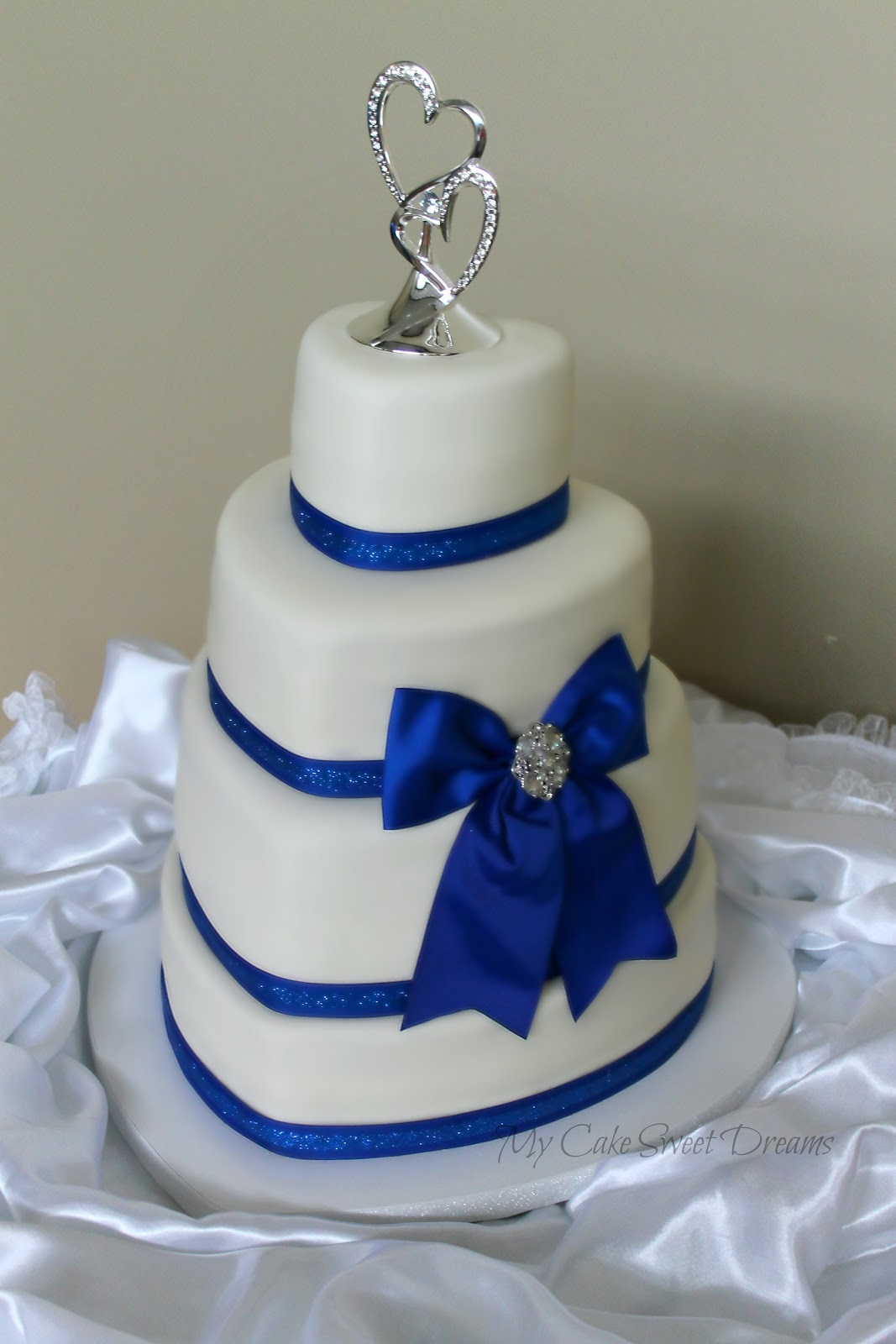 Blue Heart Wedding Cakes Heart Wedding Cake