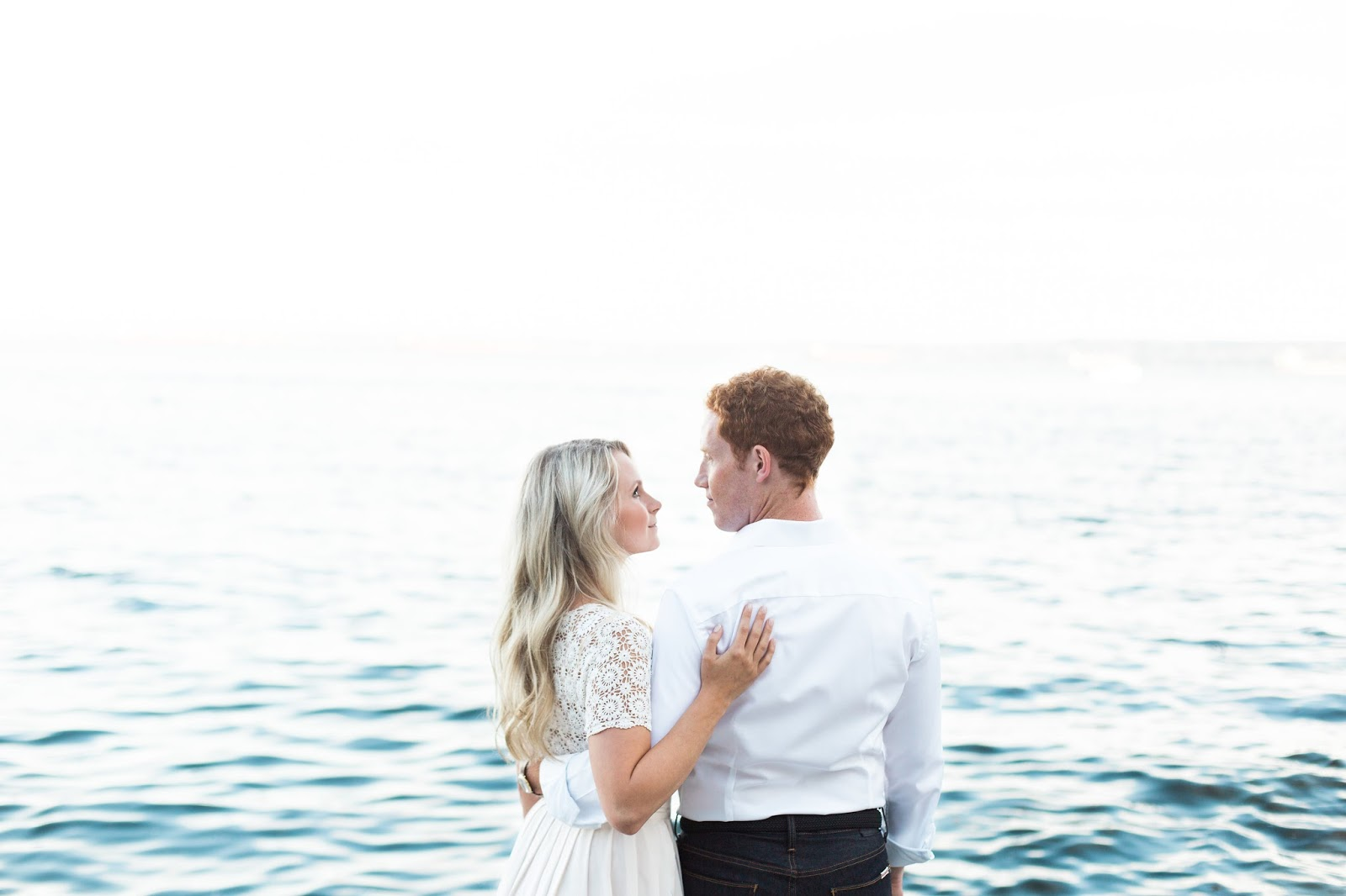 blue ocean themed wedding photos