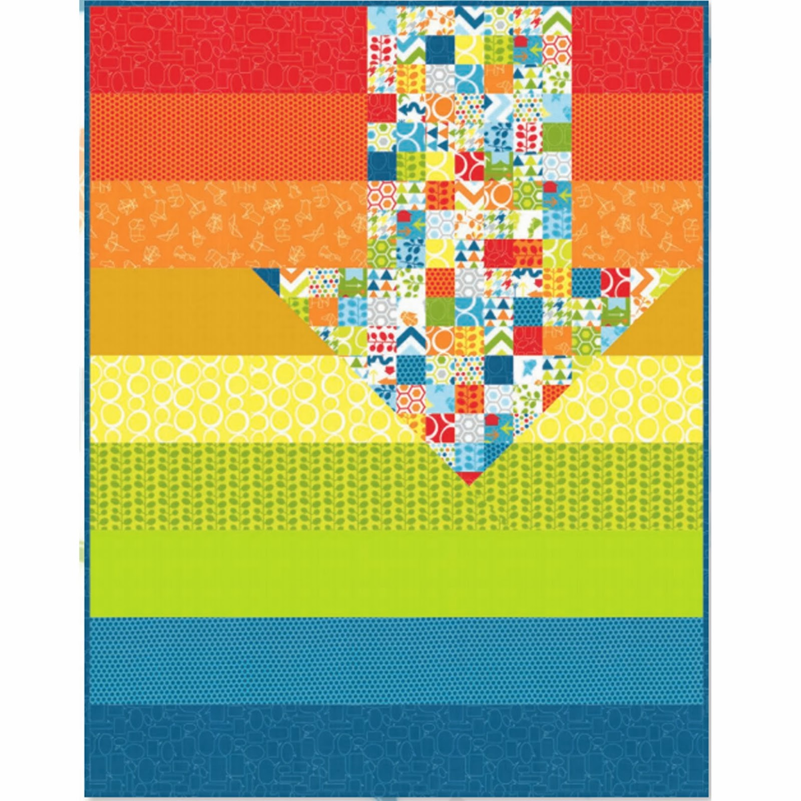 Moda MIXED BAG Free Quilt Pattern