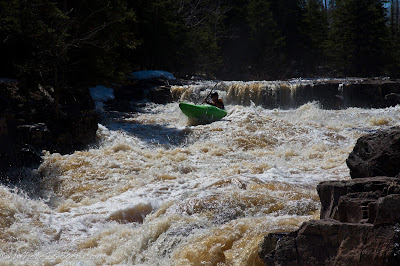 Ben Kinsella on the first major slide, minnesota, Chris Baer, split rock river,
