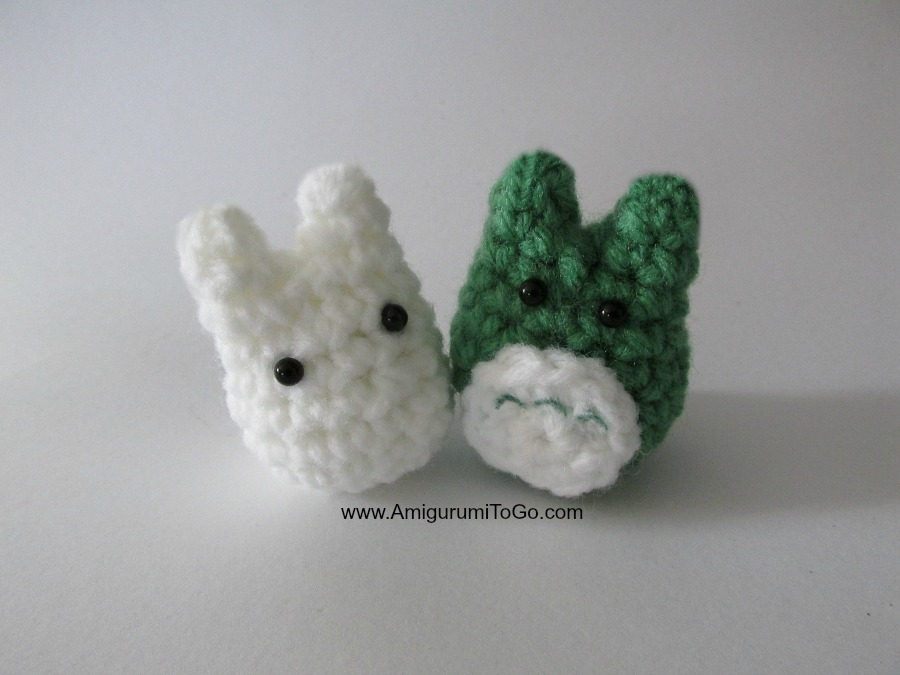 White Totoro Amigurumi : Tiny White Totoro Pattern One of Three For Stacking Set ...
