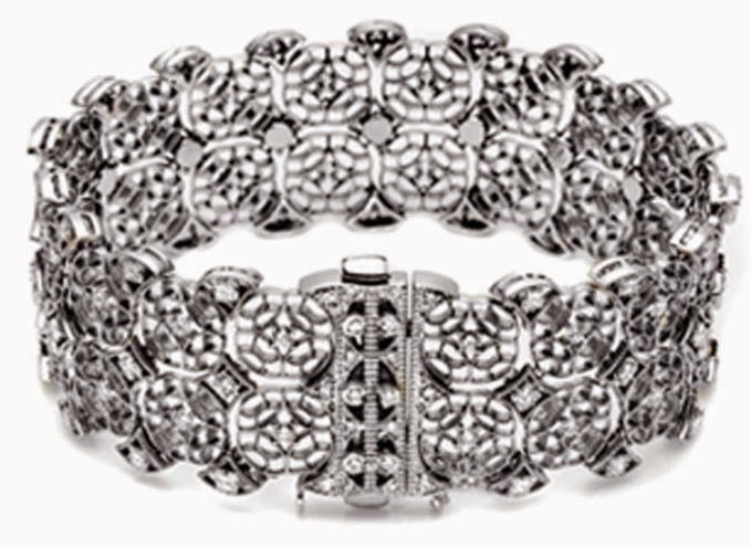 8K White Gold 2.90ct Diamond Eternity Bracelet
