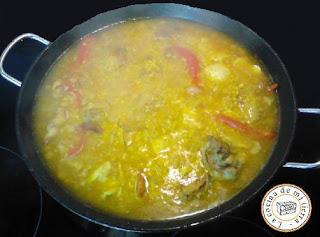 paella alicantina, paella carne, paella valenciana