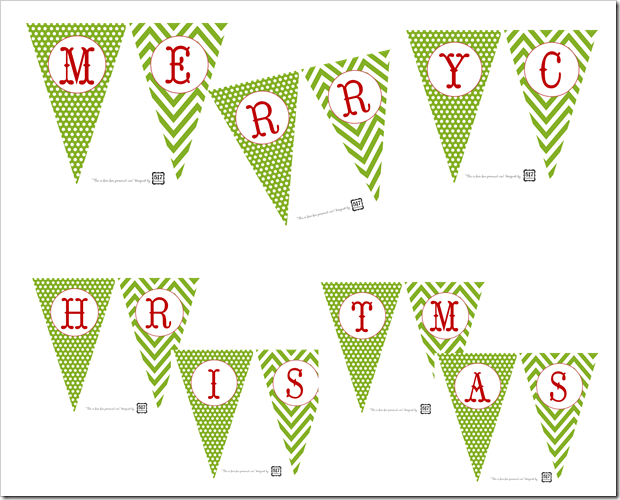 Impeccable image within merry christmas banner printable
