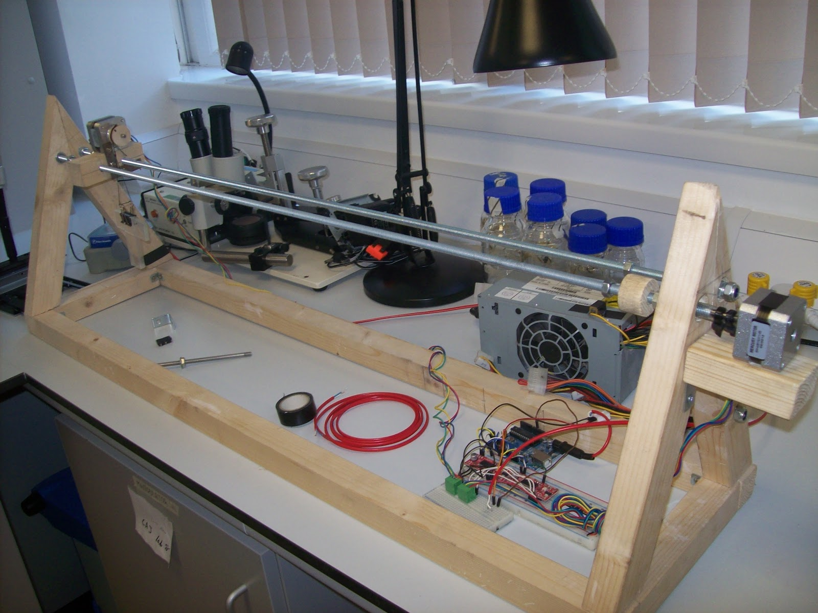 Science Technology Tools And Builds Histology Robot Sneak Peek Electronics Projects For Dummies A Peak Few Quick Pictures Of An Almost Finished Project Platform Automating With One Turning Rail Stationary The