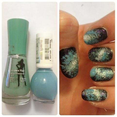 galaxy nails, space nails, galaxy nail art, space nail art, space print, galaxy print, tutorial, nail art