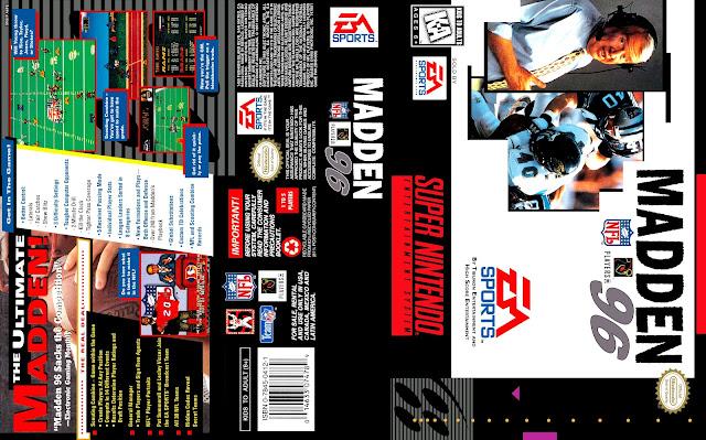 Capa Madden NFL 96 Super Nintendo