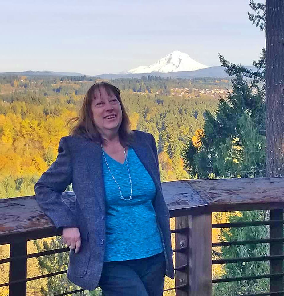 rose at McIver State Park. Mt Hood behind me