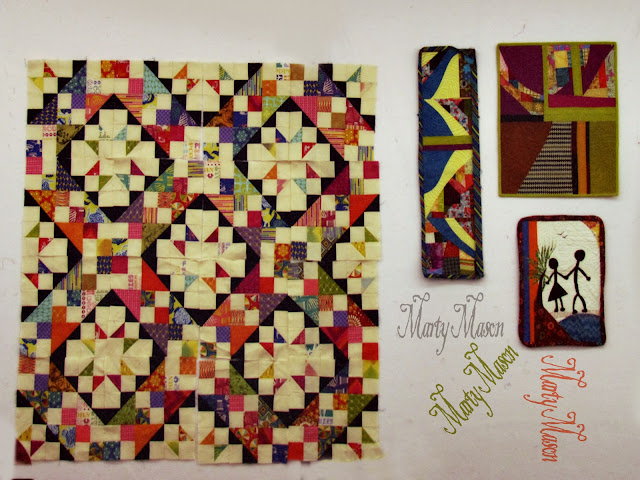 quilts on the design wall
