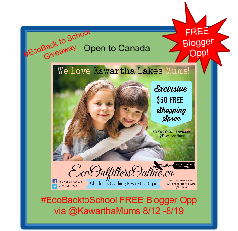 Kawartha Lakes Mums Hosts Free Blogger Opp Sponsored By Eco Outfitters Online