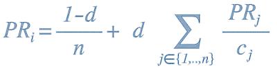 PageRank Algorithmus (Formel zur Berechnung)