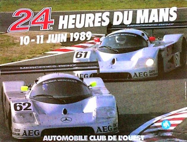 Affiche officielle des 24 Heures du Mans 1989
