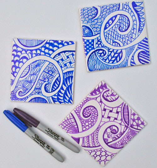 zentangle coasters