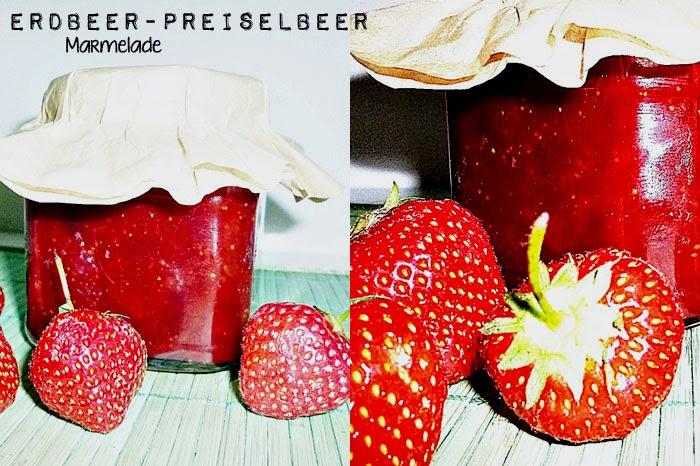 Erdbeer-Preiselbeer Marmelade