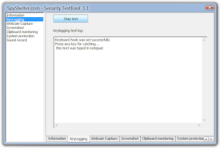 SpyShelter Security Test Tool: Test your Anti-Keylogger software