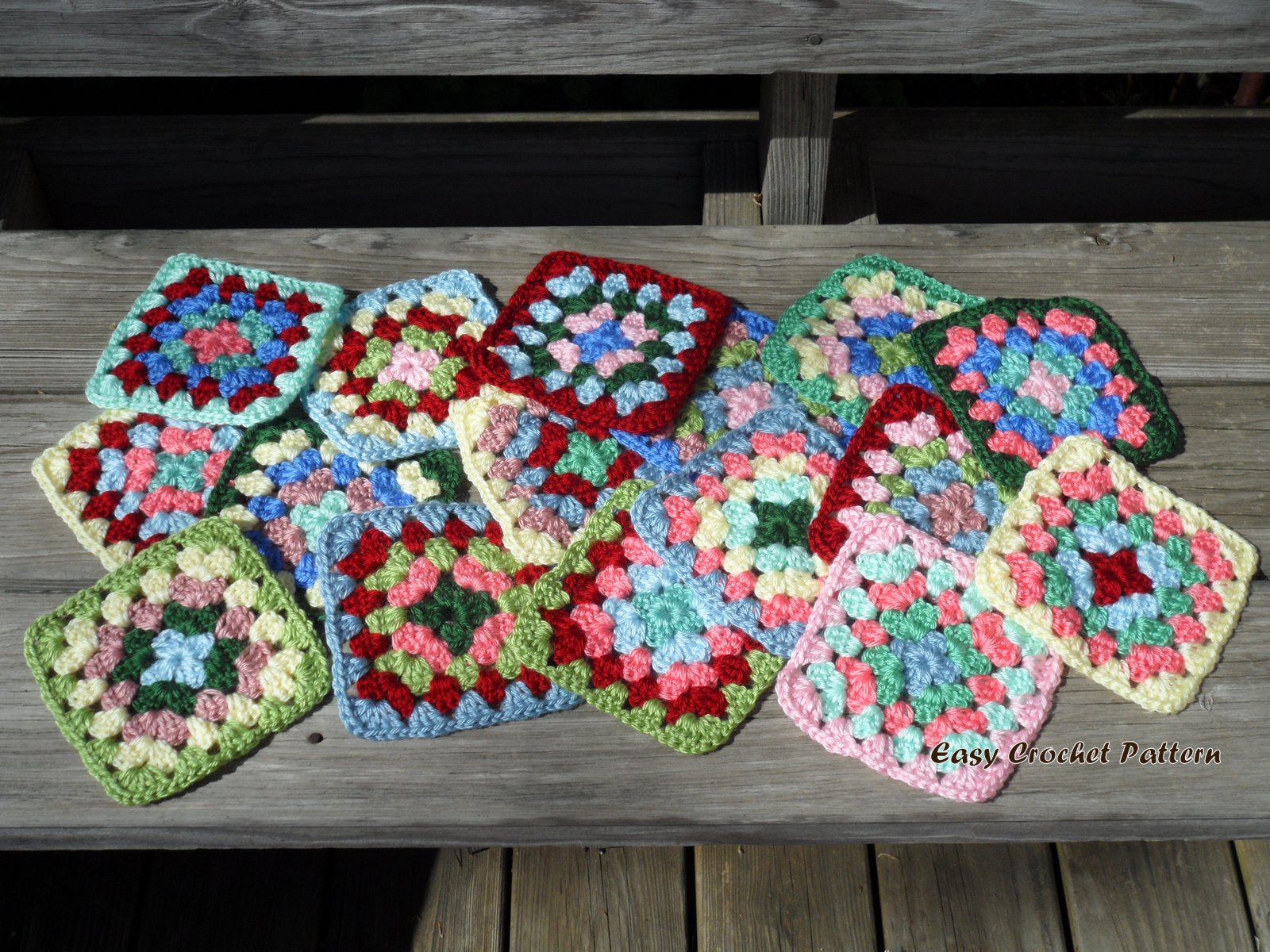 Crochet Easy Granny Square Patterns : Easy Crochet Pattern: Cath Kidston Granny Square Afghan