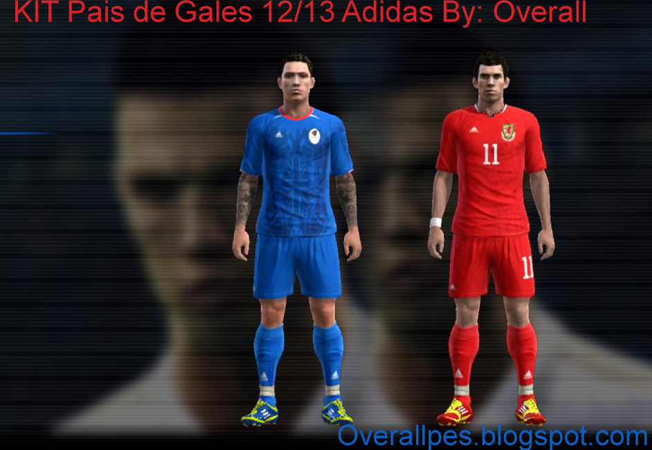 Pes 2012: Kit Pais de Gales 2012 ~ Kits By Overall