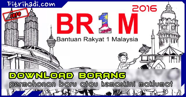 Download Borang Permohonan Baru Kemaskini BR1M 2016