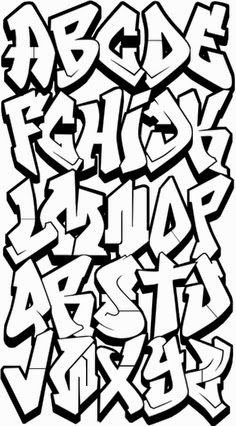 graffiti letters a-z to draw