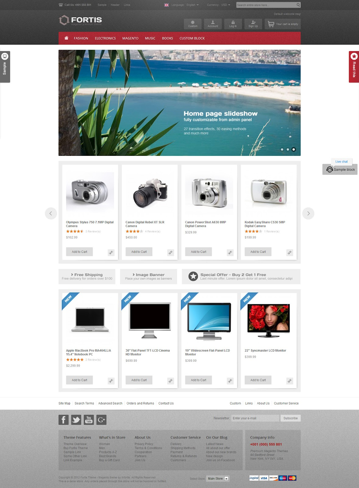 Fortis - flexible Premium Magento eCommerce Theme and Templates ...
