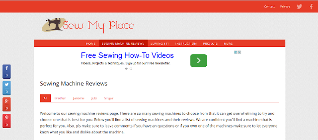 complete website for sewing-related articles