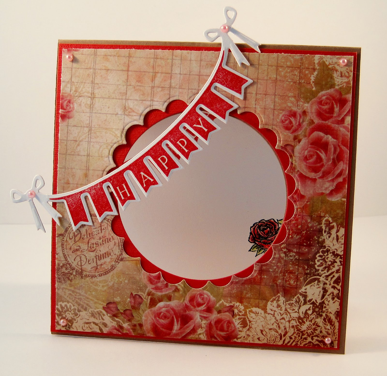Stamps - Our Daily Bread Designs Pennant Swag 2, Rose, ODBD Blushing Rose Paper Collection, ODBD Custom Pennant Swag Die