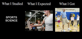 what i studied, what i expected, what i got, sports science