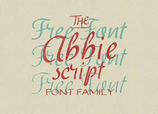 Abbie Script free font