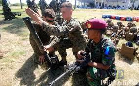 Marinir Indonesia-Amerika Simulasi Latih Tempur
