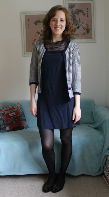 OOTD: Navy Zara Shift Dress Primark ASOS Work Outfit Fashion Blogger