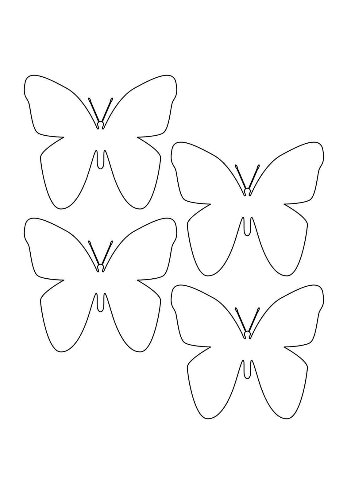 Farfalle di carta per decorare pareti e oggetti creare for Immagini farfalle da ritagliare