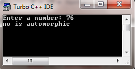 c program for Automorphic number