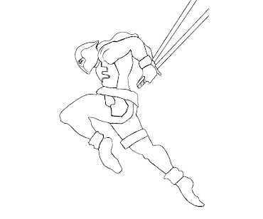 #2 Deadpool Coloring Page