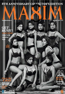 Magazine Cover : Various Models Magazine Photoshoot Pics on Maxim Magazine India January 2014 Issue