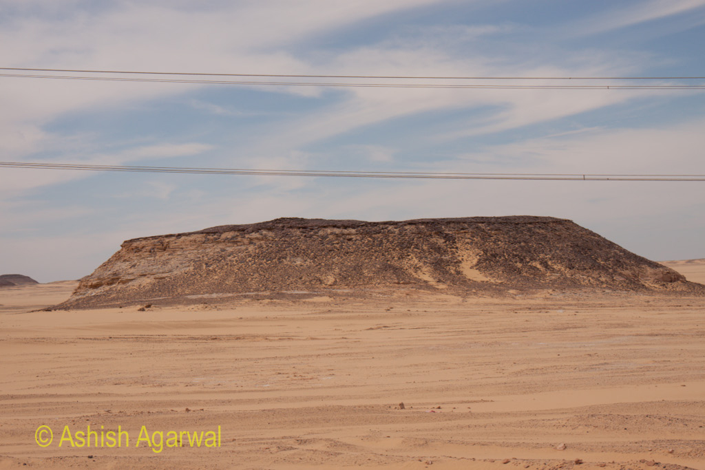 Occasional change in the terrain as we were driving from Aswan to Abu Simbel in Egypt