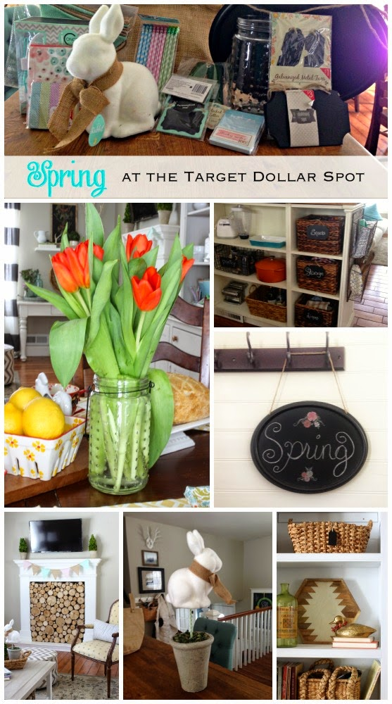 Great ideas for Spring decorating with items purchased at Target Dollar Spot-www.goldenboysandme.com