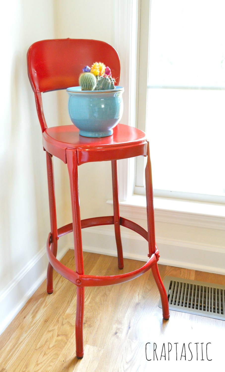 Luxury Red Stool Makeover