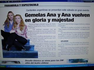 """Prensa """"Vuelven en Gloria y Majestad """""""