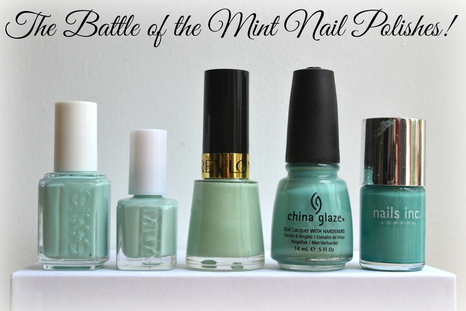 Imogen\'s Typewriter.: The Battle of the Mint Nail Polishes!