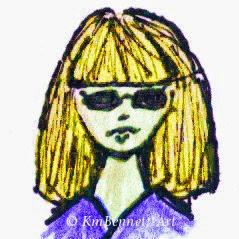 Cartoon self blond