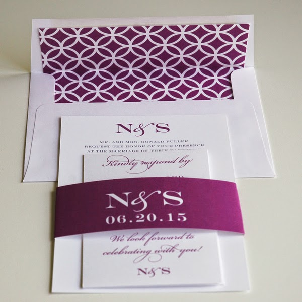 Monogram Wedding Invitations | Designed By M.E. Stationery